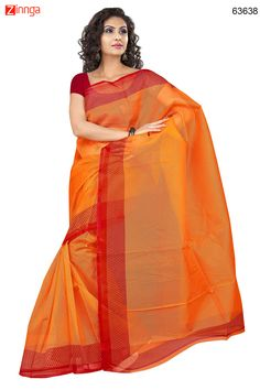 Women's Attractive Looking Ethnic Super Net Orange Saree. Message/call/WhatsApp at +91-9246261661 or Visit www.zinnga.com