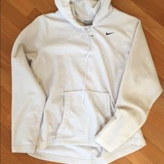 Nike Hoodie! Basic white NIKE hoodie. Perfect condition, no tears or stains. I don't wear Nike anymore which is why I'm selling! :) Nike Tops Sweatshirts & Hoodies