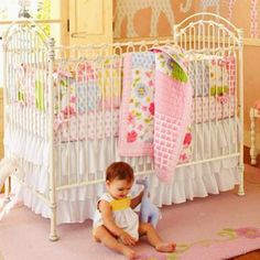 My baby girls baby bedding for her shabby chic/country/vintage room!