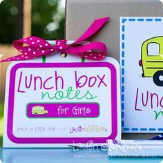Adorable Lunch Box Notes