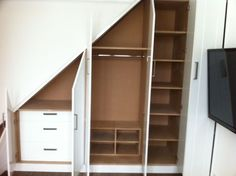 wardrobe under the stairs - Google Search
