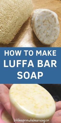 How to Make Luffa Bar Soap with Soap Base Make soap-based loofah soap for a luxurious bathing experience. You will love the creamy feel and natural exfoliating power of Luffa in your soap. Homemade Soap Recipes, Homemade Bar, Decorative Soaps, Exfoliating Soap, Shea Butter Soap, Soap Base, Goat Milk Soap, Home Made Soap, Sweet Almond Oil