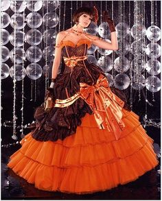 For the Steampunk Bride. This wedding dress maker does their designs in a wide range of colors.