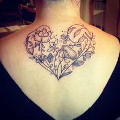 Floral heart by Pink Tattoos
