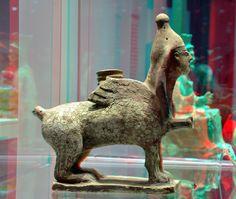https://flic.kr/p/qtuCsG | Sphinx Carthage 900-BC 3D | British Museum RMO Leiden anaglyph stereo Carthago