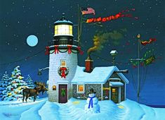 Moose Lighthouse - 52619    usalights.com
