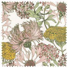 Hello Yarrow Natural Fabric – Abigail Borg