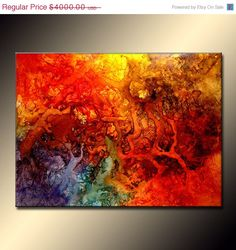 Abstract Art Huge Abstract Painting Original by newwaveartgallery, $3200.00