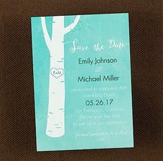 Carved Heart Save the Date CARD