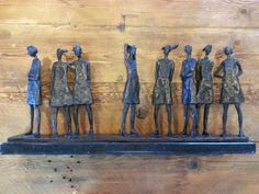 "Grace da Costa - "" school girls"" bronze Edition Bronze Sculpture, Wood Sculpture, South African Artists, Ceramic Figures, Sculptures For Sale, Stone Work, Art For Sale, Costa, Therapy"