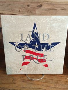 autumntrout23@uppercaseliving.net Land of the Free Patriotic tile