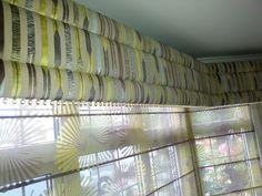 Ado, Roman Curtains - Crystal Bead Trimline Uplhostered Pelmet by Alf Onnie