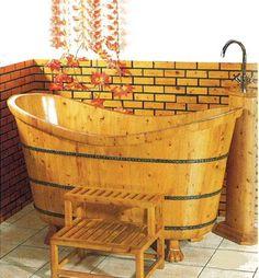 【楽天市場】木風呂・天然木製浴槽(木製バスタブ、木の風呂、木の浴槽):輸入家具のローマンディール