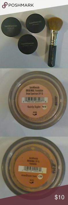 bareMinerals Bundle Fairly Light, Medium Beige, Medium Tan, Brush bareMinerals Makeup Foundation
