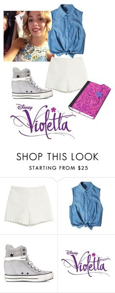 """""""Violetta 3"""" by tinitini2103 ❤ liked on Polyvore featuring Moschino Cheap & Chic, Converse, women's clothing, women, female, woman, misses, juniors, violetta and TiniStoessel"""
