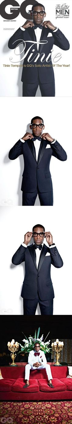 Tinie Tempah for the October British edition of GQ