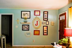 Love the letter in the photo wall. Like this layout. Give and take a couple of things.