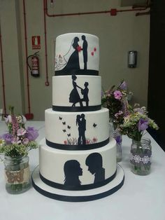 wedding cakes cakes elegant cakes rustic cakes simple cakes unique cakes with flowers Wedding Cake Rustic, Unique Wedding Cakes, Beautiful Wedding Cakes, Wedding Cake Designs, Beautiful Cakes, Amazing Cakes, Dream Wedding, Elegant Wedding, Fall Wedding