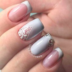 White Acrylic Nail Art picture 1