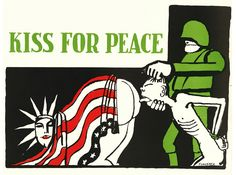 """from my review of """"WARNING! Graphic Content... The Uncensored Artistic Mind"""" ~ Tomi Ungerer: Kiss for Peace, 1967..."""