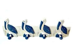 Hand Carved Pelican Towels Hooks Beach Hanger Holder Surfboard Nautical Wooden Wall Hanging Art Sign Tiki Bar *** Want additional info? Click on the image. (This is an affiliate link and I receive a commission for the sales)