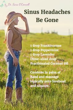 Sinus Headaches Be Gone- Natural Sinus Headache Remedy with Essential Oils Frankincense, Peppermint and Lavender. Great for sinus and allergy headaches and discomfort.