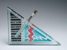 Stunning Joan Irving Glass Studio Signed Art Glass Perfume Bottle 1992