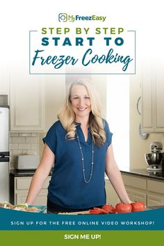Learn the step-by-step and the basics of freezer meals, plus WHY you need them in your life. Freezer meals are THE SECRET to spending less time in the kitchen, while feeding your family wholesome meals. Make ahead meals are a lifeline for the busy family and Erin wants to help you learn with her free online video workshop and sample freezer meal plan! #freezercooking #easydinner Crock Pot Freezer, Healthy Freezer Meals, Dump Meals, Make Ahead Meals, Healthy Dishes, Crockpot Meals, Bulk Cooking, Cooking 101, Batch Cooking
