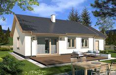 projekt Filip wersja A WRD2537 Modern Bungalow Exterior, Red Bricks, Future House, House Plans, New Homes, House Design, Patio, Outdoor Decor, Home Decor