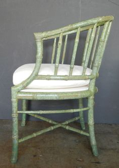 William Haines mottled green armchairs from Warner Estate