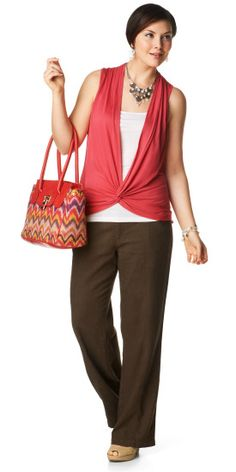 Knot Front Tank Outfit - Christopher & Banks