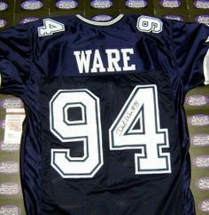 Demarcus Ware Autographed Hand Signed Football Jersey (Dallas Cowboys) JSA  size XL by 38b2fd877