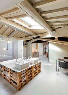 salle de bain en palette