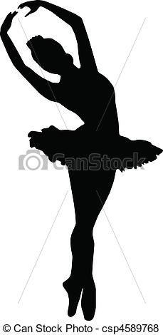Dance girl ballet silhouette