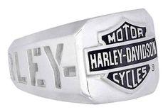 Harley Davidson Men's H D Cut Out Bar Shield Emblem Ring Silver HDR0327 | eBay