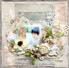 Prima layout by Maiko Kosugi using Tea Thyme
