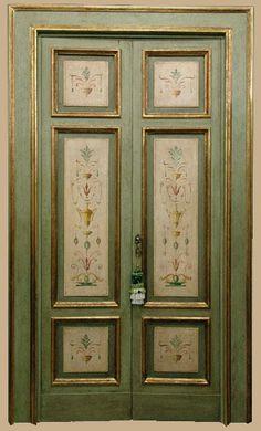 Reproductions of antique italian painted doors - Porte del Passato, Old Doors, Windows And Doors, Antique Doors, Italian Doors, Front Door Locks, Painted Doors, Paint Furniture, Closet Doors, Door Design