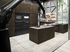 Wood fibre kitchen with island NATURAL SKIN HOME Natural Skin Collection by Minacciolo | design Silvio Stefani, R