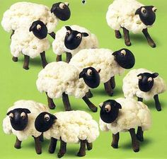 Sheep from Cauliflower & Olives