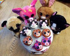 Beenie Boo Cupcakes Onderin zie je er nog meer! En daar is ook de Cupcake in de vorm van die helemaal linkse hond!