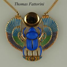 Antique art nouveau scarab brooch egyptian revival gems and vintage egyptian revival winged scarab necklace thomas fattorini ltd this fabulous vintage egyptian revival aloadofball Choice Image