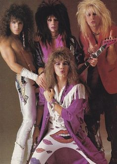 Glam metal band Vinnie Vincent Invasion, less elaborate than some other bands but more effeminate than many.  Their androgyny was subversive and appealing.