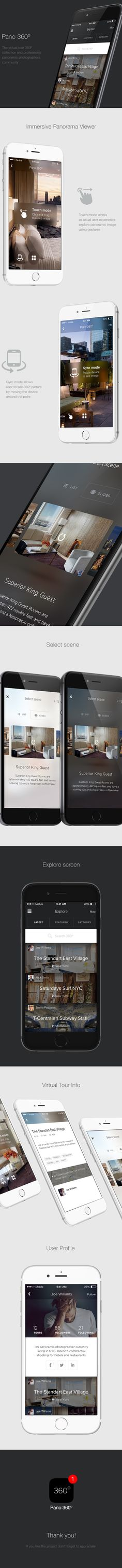 Pano 360º - UX/UI iPhone app design on Behance