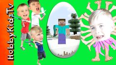 World's BIGGEST MINECRAFT Video Game Surprise Egg! HobbyKidsTV