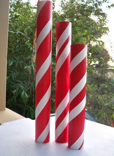 candy-cane-pvcs.png (233×320) http://thinkcrafts.com/blog/2012/12/20/christmas-peppermint-stick-centerpiece/