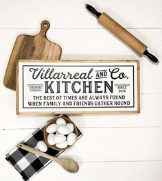 Your place to buy and sell all things handmade Farmhouse Kitchen Signs, Vintage Farmhouse, Farmhouse Decor, Kitchen Decor, Farmhouse Style, Kitchen Gifts, Country Decor, Rustic Decor, Painted Wood Signs