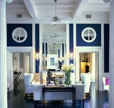 This navy would be beautiful in a dining room with lots of molding