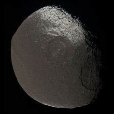 Iapetus, the third largest moon of the Saturn has an interesting ridge that lies exactly on the equator of this bombarded moon.