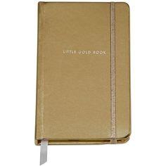"kate spade new york Medium ""Little Gold Book"" Notebook found on Polyvore"
