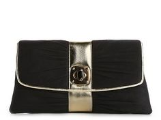 Lulu Townsend Faux Suede Gold Front Clutch Clutches Handbags - DSW